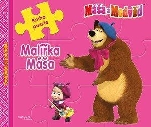 O. Kuzovkov: Máša a medvěd - Malířka Máša - Kniha puzzle - Poskládej si pohádku