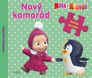O. Kuzovkov: Máša a medvěd - Nový kamarád - Kniha puzzle - Poskládej si pohádku