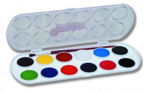 neuveden: JOVI vodové barvy 12 ks + štětec