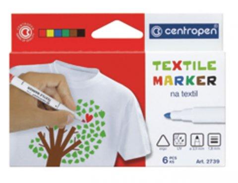 neuveden: Centropen popisovač na textil (6 ks)