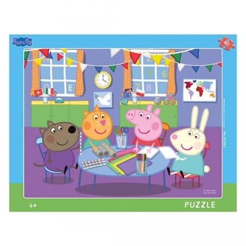 neuveden: Peppa Pig ve školce: puzzle deskové 40 dílků