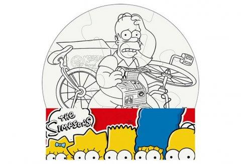neuveden: The Simpsons: Vymaluj si kruh/Mini puzzle