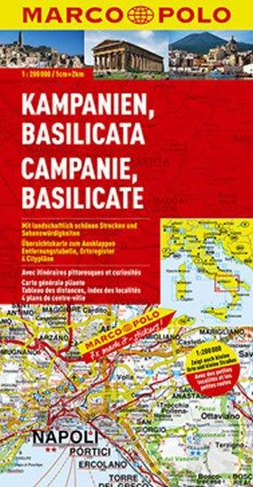neuveden: Itálie - Campania,Basilicata/mapa