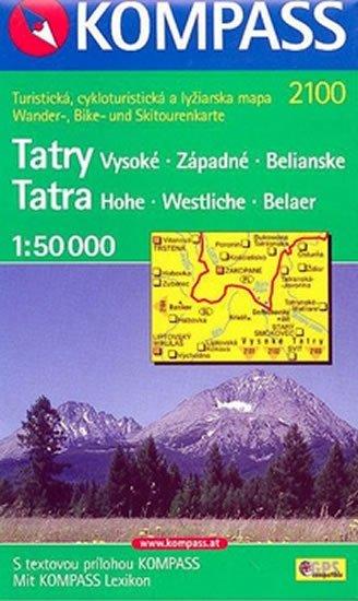 neuveden: Vysoké Tatry  2100  NKOM 1:50T