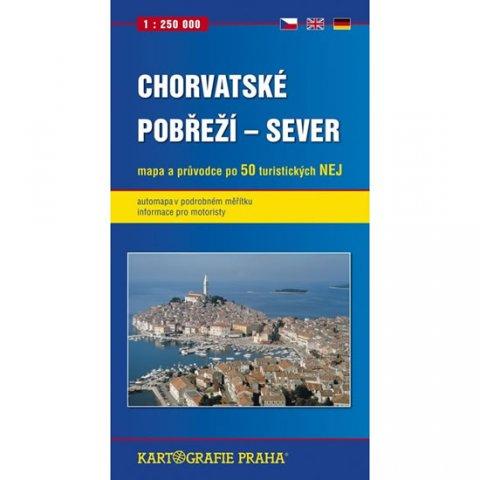 neuveden: Chorvatské pobřeží - sever, 1:250 000 (automapa)