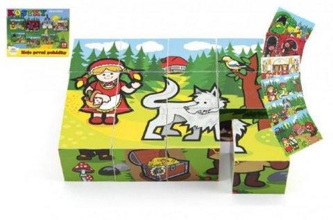 neuveden: Moje první pohádky - Kostky kubus dřevěné 12 ks