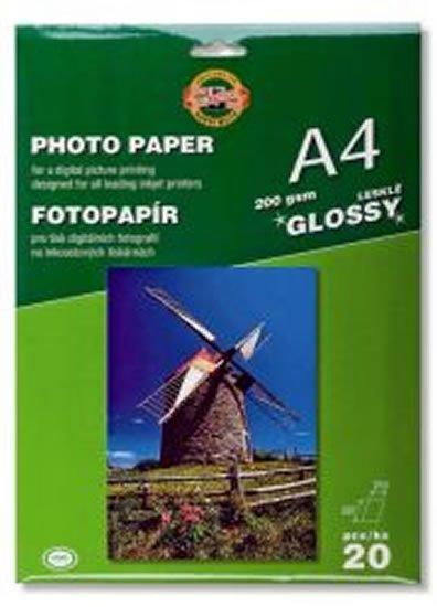 neuveden: Koh-i-noor fotopapír A4 lesklý 200g 20 ks