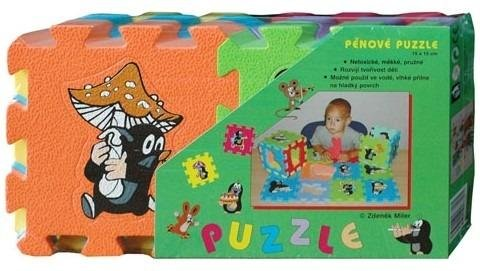 neuveden: Krtek - Pěnové puzzle 15x15 6ks/3 motivy