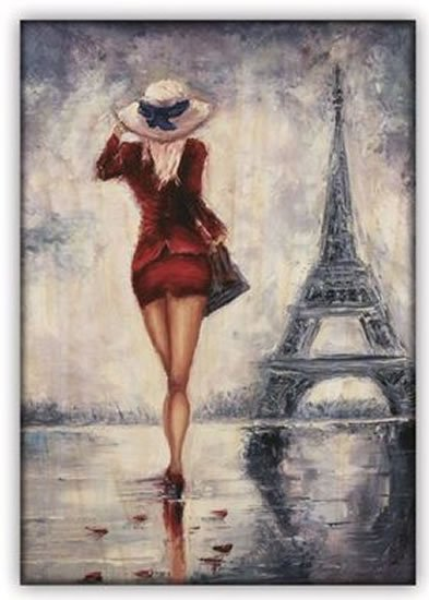 neuveden: Obraz dřevěný: Paris, 340x485