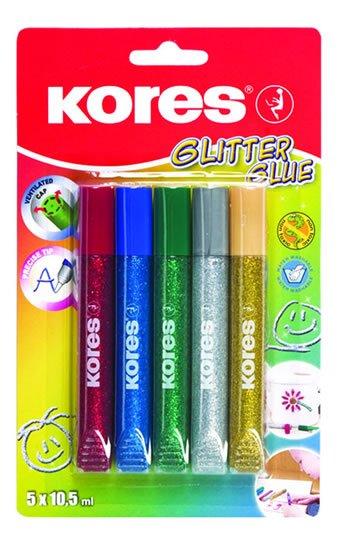 neuveden: Kores Glitter glue 5 x 10,5 ml