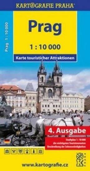 neuveden: Prag - Karte touristischer Attraktionen /1:10 tis.
