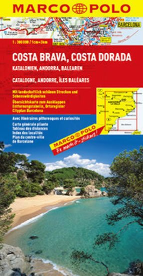 neuveden: Costa Brava, Costa Dorada/mapa