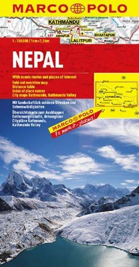 neuveden: Nepál / mapa
