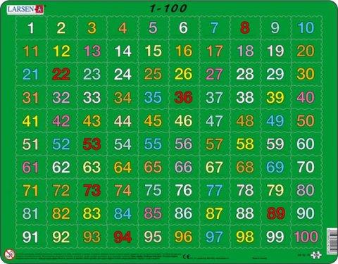 neuveden: Puzzle MAXI - 1-100 /100 dílků