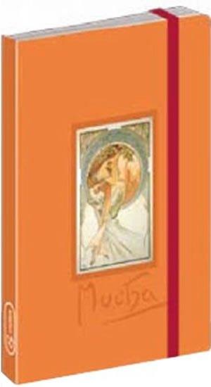 neuveden: Journal notes Alfons Mucha – Poetry, linkovaný, 9 x 13 cm
