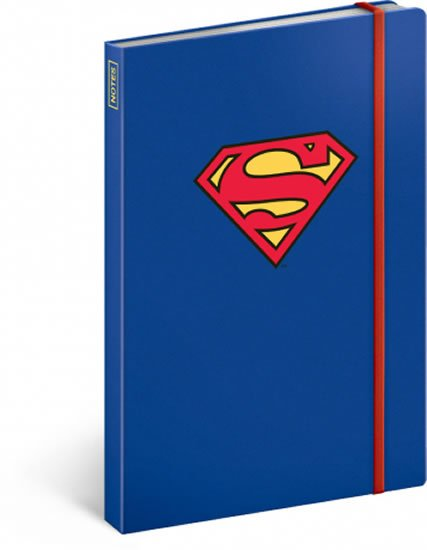 neuveden: Notes - Superman – Symbol, linkovaný, 13 x 21 cm