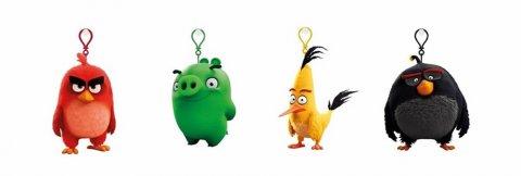 neuveden: Angry Birds - 9cmplyšová hračka s nylon přívěskem (více druhů)