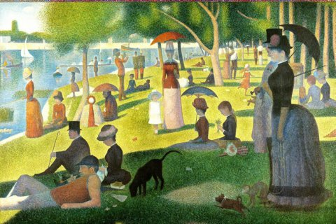 neuveden: Puzzle: Nedělní odpoledne na ostrově Grande Jatte  1884: Seurat Georges: 20