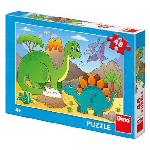 neuveden: Happy Dino: puzzle 48 dílků