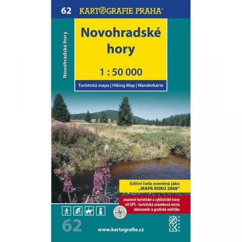 neuveden: 1: 50T (62)-Novohradské hory (turistická mapa)