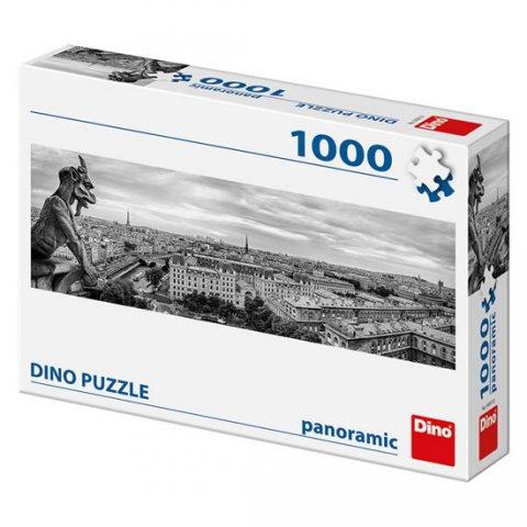 neuveden: Paříž - chrlič:  panoramic puzzle 1000 dílků