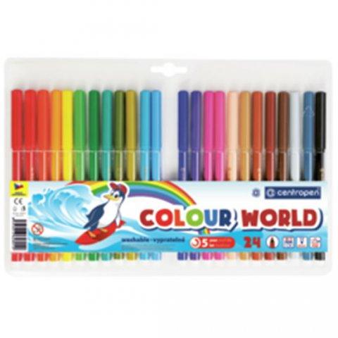 neuveden: Centropen Fixy COLOUR WORLD 7550 trojboké, sada 24 barev
