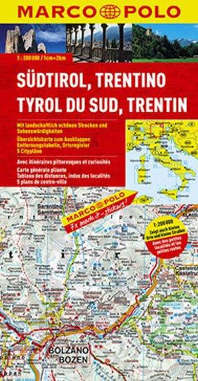 neuveden: Itálie - Südtirol, Trentino /mapa