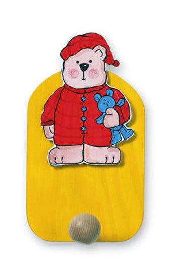 neuveden: Věšák medvěd v pyžamu - 1 háček
