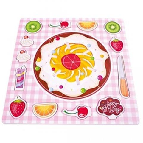 neuveden: Dřevěné puzzle - Ovocný koláč