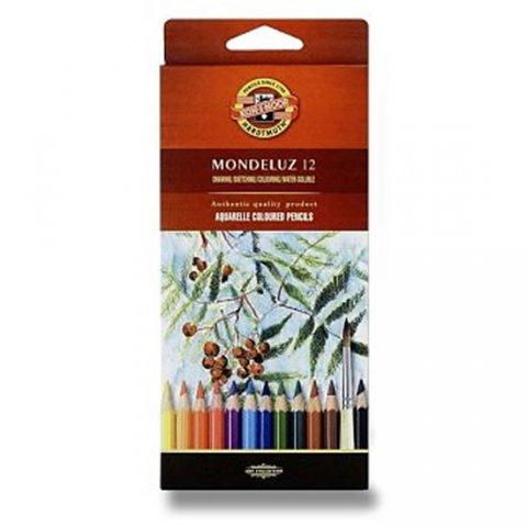 neuveden: Koh-i-noor pastelky MONDELUZ akvarelové souprava 12 ks v papírové krabičce