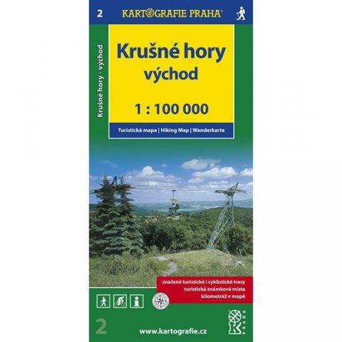 neuveden: 1:100T ( 2)-Krušné hory - VÝCHOD (turistická mapa)