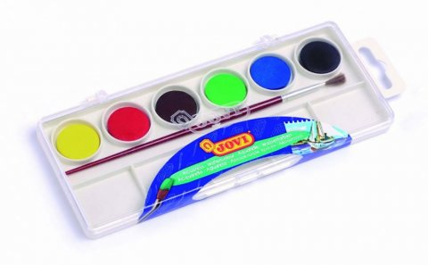 neuveden: JOVI vodové barvy 6ks + štětec