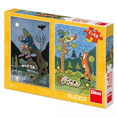 Lada Josef: Josef Lada - Pohádky: puzzle 2x48 dílků