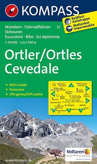 neuveden: Ortler,Cevedale 72 / 1:50T NKOM
