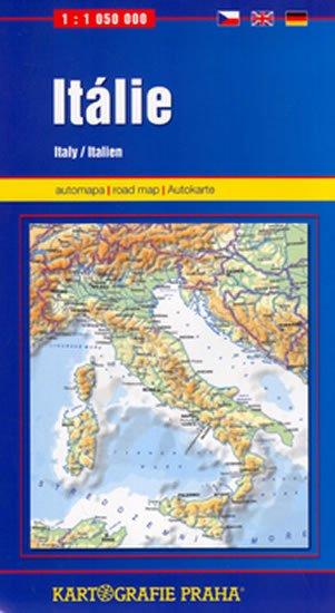 neuveden: Itálie, 1:1 050 000 (automapa)