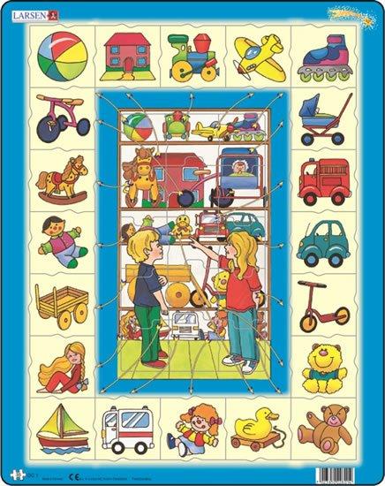neuveden: Puzzle MAXI - Přiřaď k sobě - hračky/35 dílků