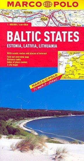 neuveden: Baltské státy/mapa 1:800T MD