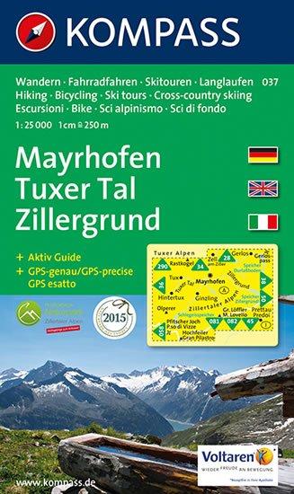 neuveden: Mayrhofen,Tuxer Tal 037 / 1:25T KOM