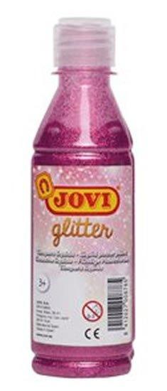 neuveden: JOVI temperová barva glittrová 250 ml v lahvi růžová