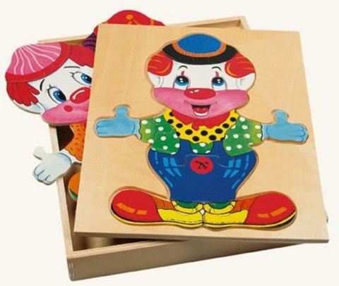 neuveden: Puzzle šatní skříň velká - klaun
