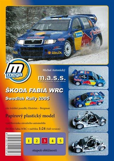 Antonický Michal: Škoda Fabia WRC ADAC Swedish Rally 2005/papírový model