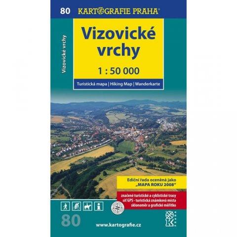neuveden: 1: 50T (80)-Vizovické vrchy (turistická mapa)