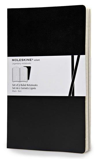 neuveden: Moleskine: Volant zápisníky linkované černé L