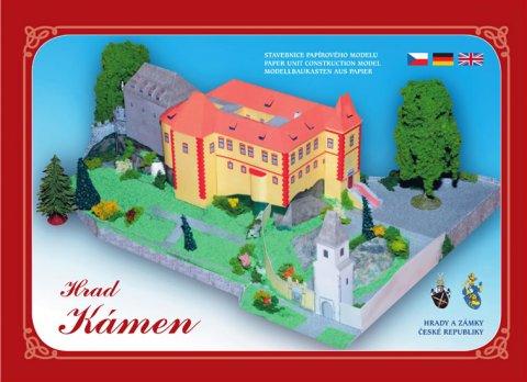 neuveden: Hrad Kámen u Pacova - Stavebnice papírového modelu