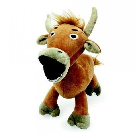 neuveden: Plyšové zvířátko z Farmaparku - Brownswiss kráva 25 cm