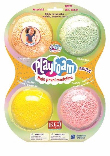 neuveden: PlayFoam Boule 4pack - Třpytivé (CZ/SK)