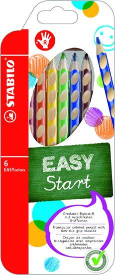 neuveden: STABILO EASYcolors pravák - sada 6 ks