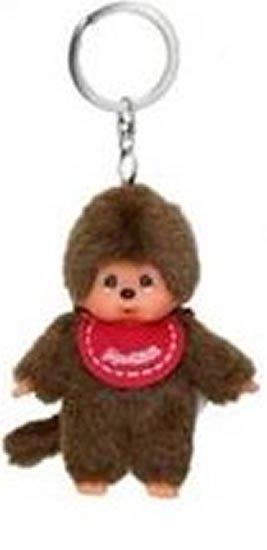 neuveden: Monchhichi klíčenka - kluk červený bryndáček (Mončiči)