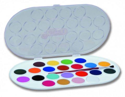neuveden: JOVI vodové barvy 22 ks + štětec