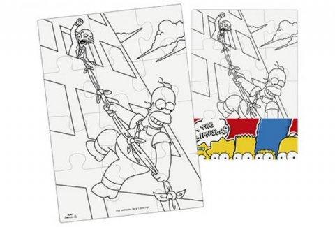 neuveden: The Simpsons - Vymaluj si obdélník Puzzle